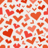 Different abstract heart icons seamless pattern — Stock Vector