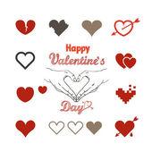 Valentýnské přání se srdíčky — Stock vektor