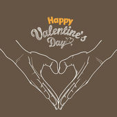 Happy Valentines Day greeting card. Design template — Stock Vector