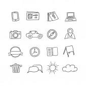 Hand-drawn vector icons set — Stockvektor