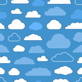 Abstract clouds seamless pattern. Minimalism illustration concep — Stock Vector