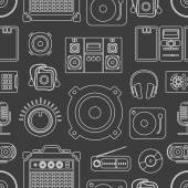 Audio equipment icons collection — Stock Vector