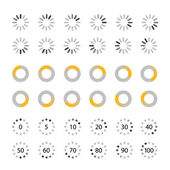 Different slyles of web loaders vector collection. Flat design e — Stock Vector