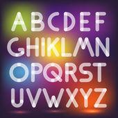 Multiply geometric elements letters. Design elements — Stock Vector