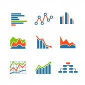 Different graphic business ratings and charts. infographic eleme — Stock Vector
