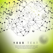 Abstract green communication background — 图库矢量图片