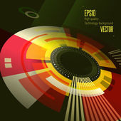 Flat style abstract retro technology banner — Stock Vector