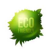 Eco friendly étiquette verte — Vecteur