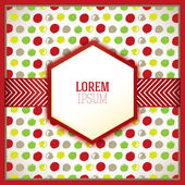 Decorative celebration card with color dots — Stok Vektör