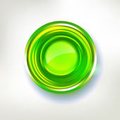 Bright green colors abstract circle badge — Stok Vektör