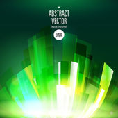 Abstract growing green wave at dark background — 图库矢量图片