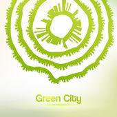 Eco friendly urban background — Stock Vector