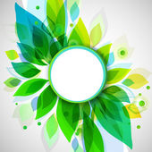 Summer decorative background with circle sticker — Stock Vector