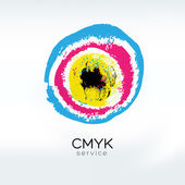 CMYK target logo concept — Stock Vector