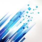 Abstract blue geometric corner elements — 图库矢量图片