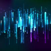 Blue lighting horisontal oriented linear banner — Stock Vector