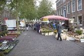 Flowers on the market in Wijk bij Duurstede — Stockfoto