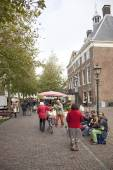 Street musicians on the market in Wijk bij Duurstede — Stockfoto