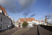 People visiting the old town of wijk bij duurstede — Stockfoto