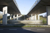 Man on bicycle near De Meern under fly-over — Stock Photo