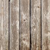 Old planks with peeling white paint on square image — Stock Photo