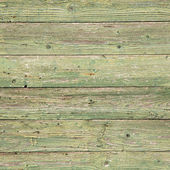 Old planks with peeling green paint on square image — Stock Photo