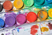 Bright colors for watercolor painting — Stockfoto
