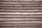 Brown varnished planks on outside of barn — Stock Photo