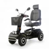 Motorized mobility scooter fot elderly people — Stock Photo