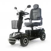 Black motorized mobility scooter fot elderly people — Stock Photo