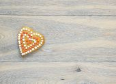 Valentine's day cookies greeting card — Stock Photo