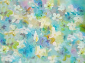 Flower abstract in pastel colors - an original modern batik painting on silk — Stock Photo