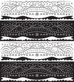 Black White Abstract Scroll Pattern — Stock Vector