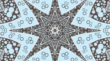 Blue kaleidoscopic animation — 图库视频影像