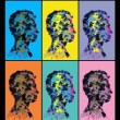 Colourful abstract human head silhouettes. — Stock Photo #72247285