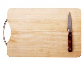 Breadboard with a knife — Stock Photo