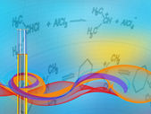 Abstract Science background with test tube — Stock Photo