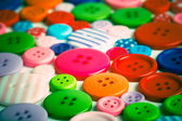 Lots of colorful buttons — Stock Photo