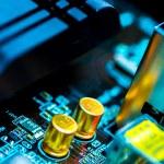 Electronic circuit board — Stock Photo #53351725