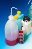 Laboratory Wash Bottles — Stock Photo