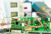 Laboratory of research microelectronics — Stock fotografie
