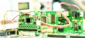 Laboratory of research microelectronics — Stockfoto