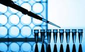 Microtubes and micropipet — Stock Photo