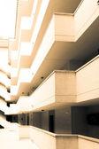 Balconies on  facade of building — Stock Photo