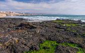 Coast on the volcanic island — Stock Photo