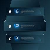 Sada návrhů bannery — Stock vektor