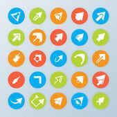 Arrows icons — Stock Vector