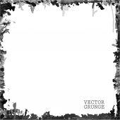 Black grunge frame — Stock Vector