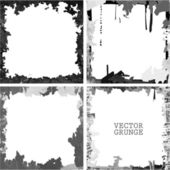 Black grunge frame set — Stockvektor