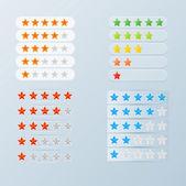 Rating stars set — Stock Vector